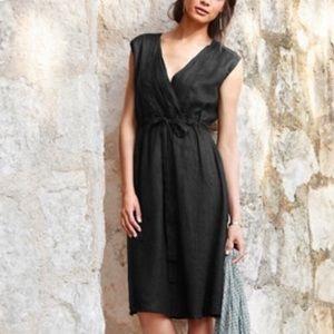 Garnet Hill 10 Black Linen Dress